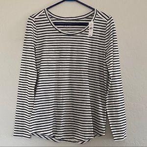 LOFT Striped Long Sleeve Top